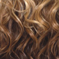 Gradual Ombre. Golden Platinum Blond top, Golden Auburn middle, Reddish Brown bottom