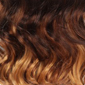 Gradual Ombre. Reddish Brown top, Reddish Auburn middle, Golden Platinum Blonde bottom