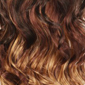Gradual Ombre. Auburn Brown top, Bright Red middle, Dark Golden Platinum Blonde bottom
