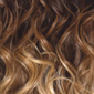 Gradual Ombre. Reddish Brown top, Golden Auburn middle, Golden Platinum Blonde bottom
