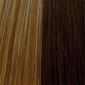 Light Chestnut Brown base highlighted with Ash Blonde and Strawberry Blonde with Red tones